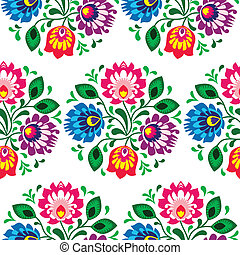 Seamless traditional floral pattern - Repetitive colorful...