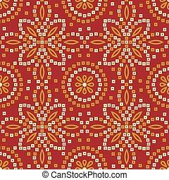 Seamless traditional Indian bandana pattern