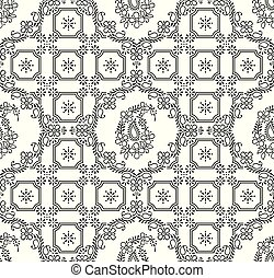 Seamless traditional indian paisley wallpaper