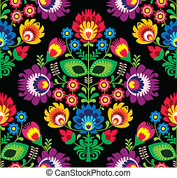 Seamless traditional Polish pattern