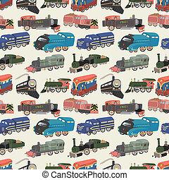 seamless train pattern