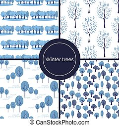 Seamless trees patterns