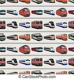 seamless, trem, padrão