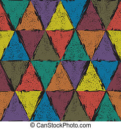 Seamless triangle grunge background. Vector