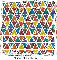 Seamless triangle grunge pattern background
