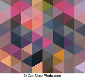 Seamless Triangle Pattern, Background, Texture Vector Hexagon