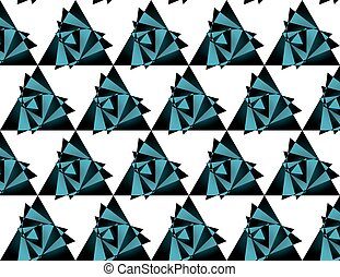 Seamless triangle pattern, background