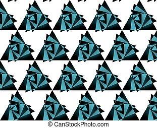 Seamless triangle pattern, background