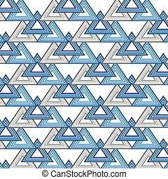 Seamless triangle pattern. Geometric Abstract background. Vector illustration