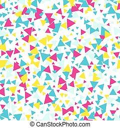Seamless triangle pattern. Vector illustration