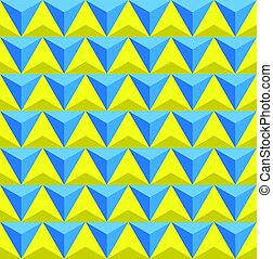 Seamless Triangles background,blue and yellow triangles pattern background vector illustration