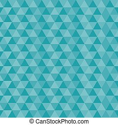 Seamless Triangles Blue Vector Pattern
