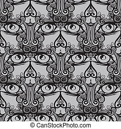 Seamless, tribal design lion - Naadloos, patroon,...