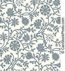 Seamless tribal floral pattern