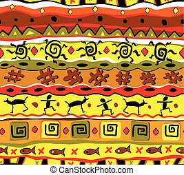 tribal pattern  - Seamless tribal pattern