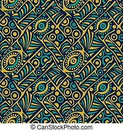 Seamless tribal vector pattern