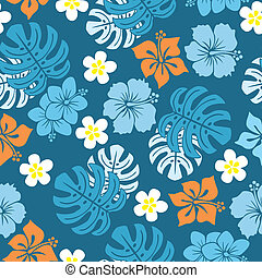 Seamless tropical pattern - Illustration vector