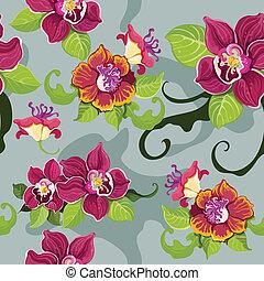 seamless, tropische bloem, pattern?