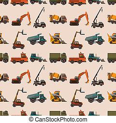 seamless truck pattern,cartoon vector illustration