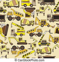 seamless truck pattern  - seamless truck pattern