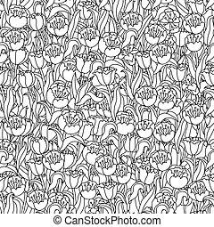 seamless., tulips, campo