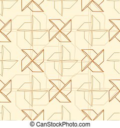 Seamless turbine pattern with brown background