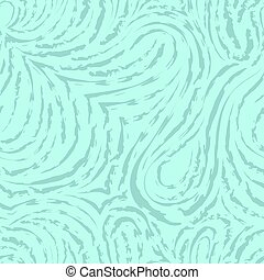 Seamless turquoise vector pattern of smooth and broken lines in the form of loops and arcs. Blue texture for decoration of fabrics or wrapping paper. Papillary lines.