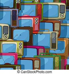 Seamless tv pattern