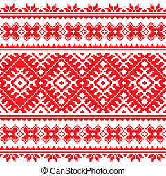 Seamless Ukrainian folk embroidery