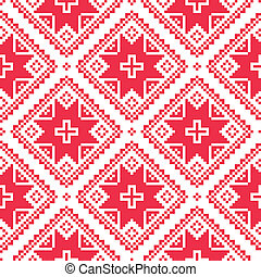 Seamless Ukrainian, Slavic folk art