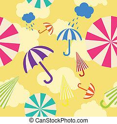 Seamless umbrella background