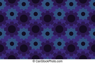 Seamless under construction abstract gears background pattern