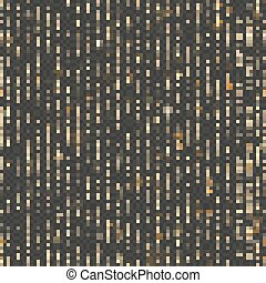 Seamless unique gold rain bokeh. Sparkling lines of shimmering lights. Glitter threads. Holiday garland lights or fashion strass drops for carnival, Christmas, New Year decoration. EPS 10 vector file