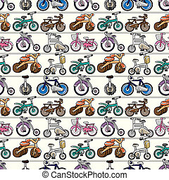 seamless, vélo, modèle