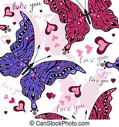 seamless, valentinbrev, mönster