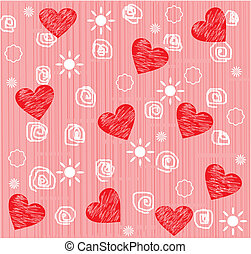 Seamless valentine day heart backgr
