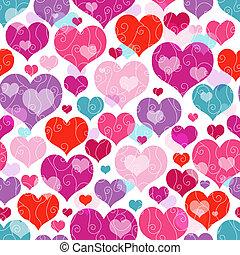 Seamless valentine pattern - Seamless vivid valentine...