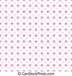 Seamless Valentine's Day Heart Pattern.