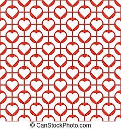 Seamless Valentine's Day Heart Pattern