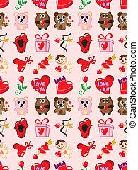 seamless Valentine's Day pattern