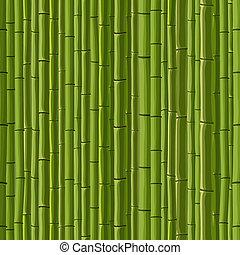 seamless, van, groene muur, bamboo.