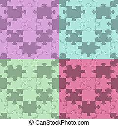 seamless, vecteur, modèle, puzzle