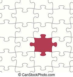 seamless, vecteur, puzzle