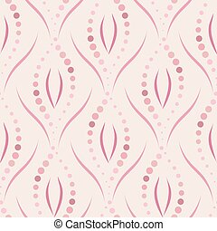 Seamless vector abstract pattern with floral motif in pastel...