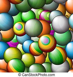 Seamless vector abstract texture - color balls