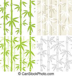 seamless, vector, achtergronden, met, bamboe