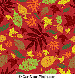 Seamless vector background - Seamless vector autumn leaves...