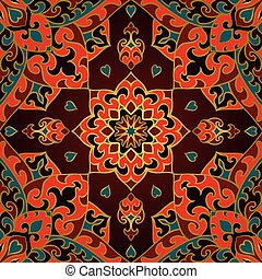 Oriental colorful ornament. - Seamless vector background....