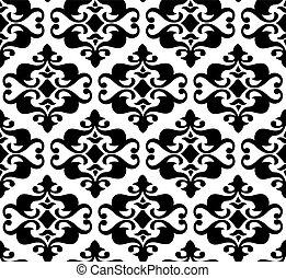 Seamless vector background, wallpaper, floral illustration ornament