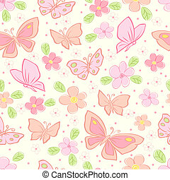 seamless vector background with butterfly colorful...